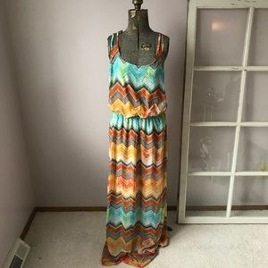 NWT Kut from the Cloth Chevron Maxi Dress